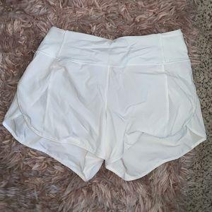 Lululemon white shorts
